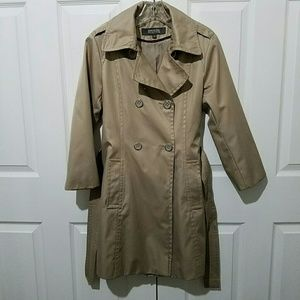 Kenneth Cole Reaction Jackets & Coats - Kenneth Cole Reaction Short Brown Trench Coat Sz M